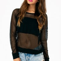 Honeycomb Contrast Top $29