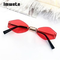 Imwete Small Cat Eye Sunglasses Women Round Sun Glasses Female  Prismatic Vintage Eyewear Fashion Brand UV400 Small Goggles