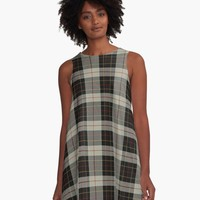 'BRODIE CLAN TARTAN 3' A-Line Dress by IMPACTEES