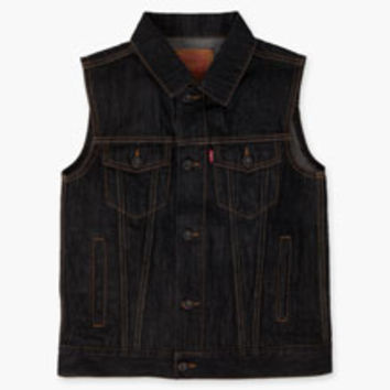 Boys' Levi's Big (8-20) Trucker Vest - Black - Kids
