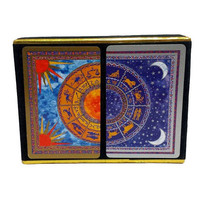 60s Zodiac Playing Cards Sealed Vintage Double Deck Congress Cel U Tone Finish Litho Spain Astrology Fire Water Signs Celestial Gifts