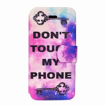 Lock Don't Touch My Phone iPhone 7 Flip Cases 5s,SE,6,6s,7,7+