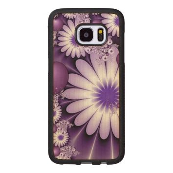 Falling in Love Abstract Flowers & Hearts Fractal Wood Samsung Galaxy S7 Edge Case