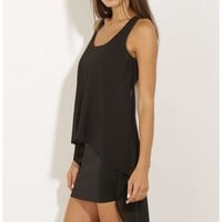 Party dresses > High-Low Chiffon Day Dress In Black