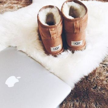 UGG Short boots antiskid warm lazy sheep fur ugg boots I