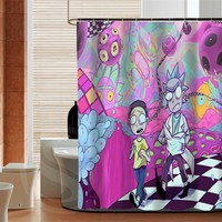 Fashion Rick and Morty  high quality custom Shower Curtain Bathroom decor various sizes Free Shipping MORE SIZE SQ0426-ZHH