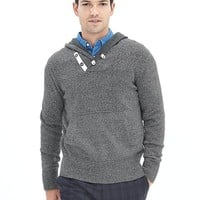 Banana Republic Mens Heritage Marled Hooded Pullover