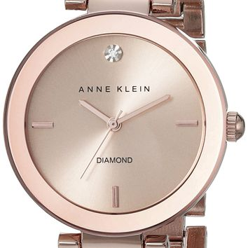 Anne Klein Women's Rose Goldtone Bracelet Watch gold
