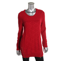 Style & Co. Womens Knit Long Sleeves Pullover Sweater