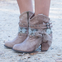 Rodeo Royalty Booties Taupe