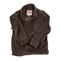CHILD'S Silky Pile Pullover 1/4 Zip in Brown by True Grit - FINAL SALE
