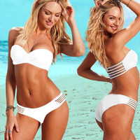 Sexy Hollow White Bikini swimsuit