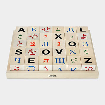 M&Co Global Alphabet Blocks