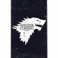 Game Of Thrones HQ White Winter Is Coming Dark Soft Phone Case For iPhone 7 7Plus 6 6S 6Plus 5 5S 5C