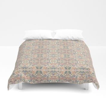 Anna's Cottage Pattern Print Design Duvet Cover by Sheila Wenzel