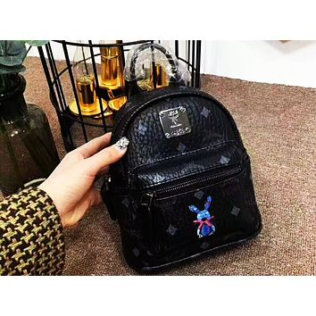 MCM 2018 Counter Your Beautiful Cute Mini Bunny Backpack F-AGG-CZDL Black