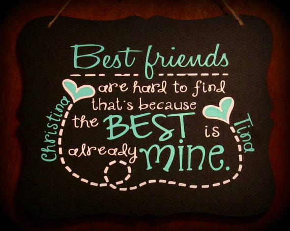 Personalized Best Friend Sign Bff Gift From Sammieslettering