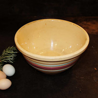 McCoy Pottery Yelloware Banded Mixing Bowl