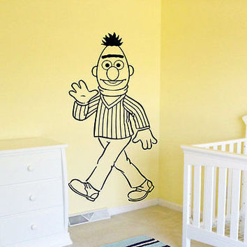 Ernie and Bert Sesame bedroom Children's room Wall Art Decal Stickers tr646