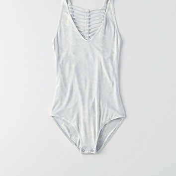 AEO Soft & Sexy Cage-Back Bodysuit, Teal