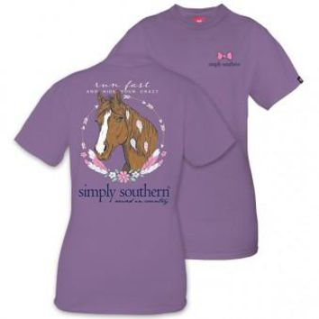 """Simply Southern """"Run Fast and Hide Your Crazy"""" Tee"""