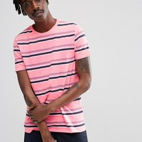 ASOS Stripe T-Shirt In Pink at asos.com