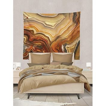 Agate Rock Abstract Design Tapestry Wall Hanging Meditation Yoga Grunge Hippie