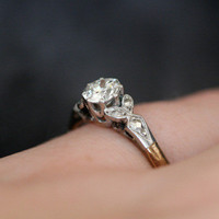 Vintage Solitaire Diamond Engagement Ring by Ruby Gray's | Ruby Gray's Antique & Vintage Rings