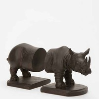 Rhino Bookend - Set of 2- Black One