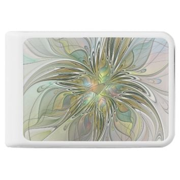 Floral Fantasy, Abstract Fractal Art Power Bank