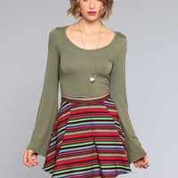 Penny Bell Sleeve Crop Top - Olive - What's New | GYPSY WARRIOR