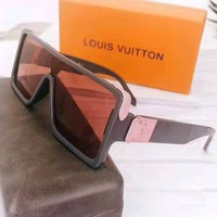 Free shipping-LV new personality box color film polarized sunglasses