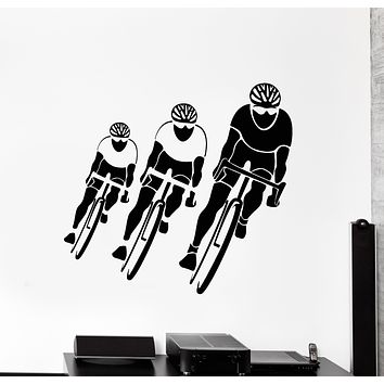 Vinyl Wall Decal Bicycle Race Cycling Sport Cyclist Stickers (3273ig)