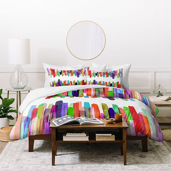 Mareike Boehmer Colorful Stripes 5 Duvet Cover
