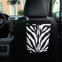 Car Trash Bag - Zebra LARGE print Black and White