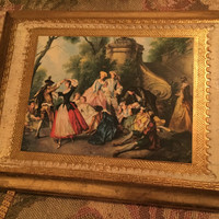 Vintage Italian Gilt Gold Plaque, Italian Renaissance Art,  Italian Wood Plaque, Home Decor, Oil on Board, Wall Hanging