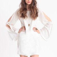 Brief Encounter Open Shoulder Dress - $69.00: ThreadSence, Women's Indie & Bohemian Clothing, Dresses, & Accessories