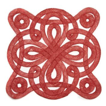 Medallion Sinamay Placemat - S/2 Red