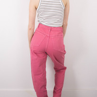 Vintage (SMALL) Pink High Waisted Denim Jeans