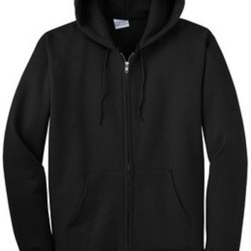 Black and white zip up hoodie