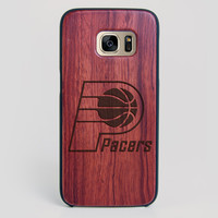 Indiana Pacers Galaxy S7 Edge Case - All Wood Everything