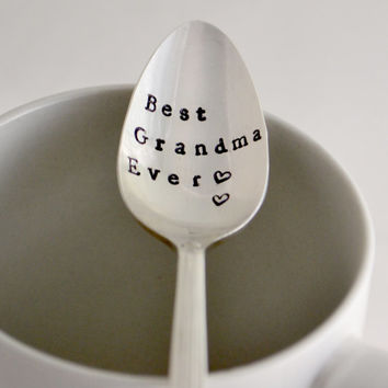 Best Grandma ever, tea  spoon-silver plated- Mothers day gift- gift for mom-gift for grandma