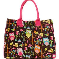 Owl Town Large Tote Bag