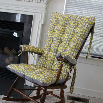 Martini Mustard Rocking Chair Cushions
