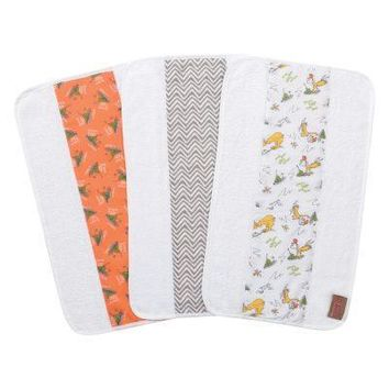 Dr. Seuss Green Eggs and Ham 3 Pack Jumbo Burp Cloth Set