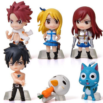 6Pcs/Set Anime Cartoon Character Fairy Tail