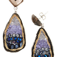 O.M.Geode Earrings in Lake | Mod Retro Vintage Earrings | ModCloth.com