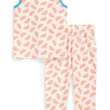 Toddler Girl's Ruby & Bloom Two-Piece Fitted Pajamas