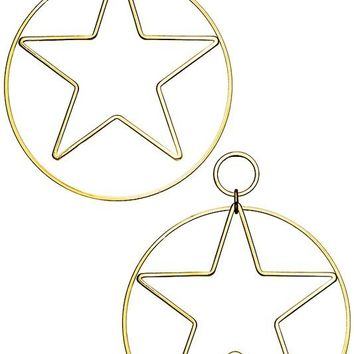 Hoop and Star Earrings