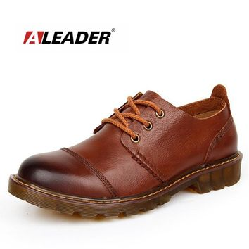 Oxford Men's Casual Leather Shoes - Genuine Leather Shoes